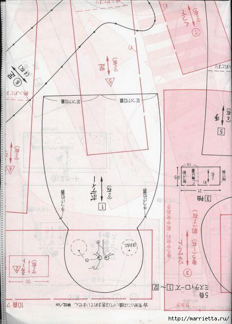 японский журнал с выкройками кукол (99) (458x640, 134Kb)