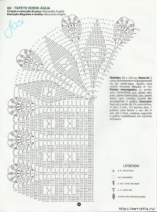 الكروشيه.  الحصير (13) (518x700، 306Kb)