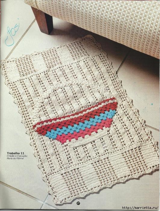 вязание крючком. коврики (24) (531x700, 425Kb)