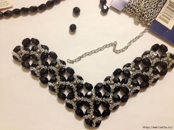 стильное ожерелье из бисера и кристаллов. мастер-класс (18) (700x525, 252Kb) .