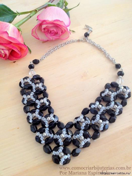 стильное ожерелье из бисера и кристаллов. мастер-класс (20) (525x700, 293Kb)