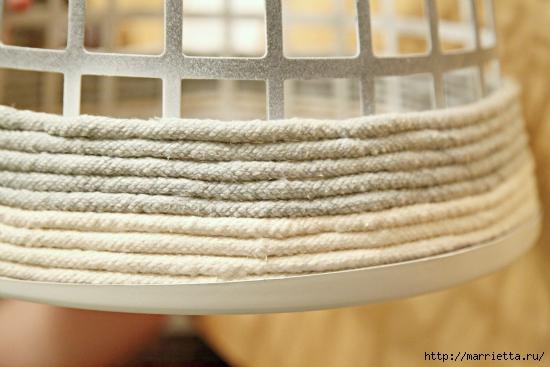 облагораживание пластиковых корзин бельевой веревкой (3) (550x367, 151Kb)