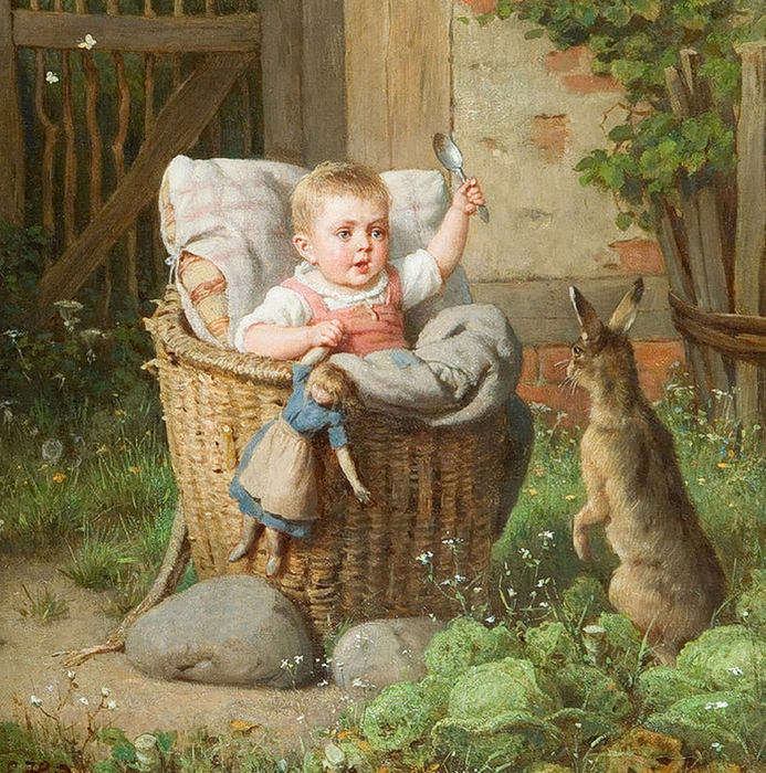 Ernest Hader.Her Favourite Pet, by (693x700, 456Kb)