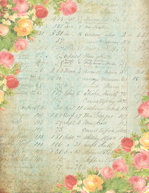 blue distressed ledger & roses printable ~ lilac-n-lavender (494x640, 150Kb)