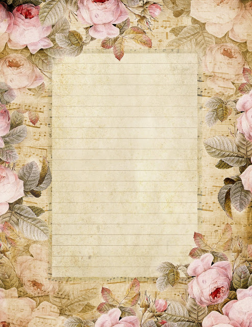 August roses lined paper ~ lilac-n-lavender (494x640, 140Kb)