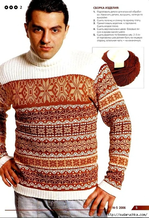 Мужское вязание с орнаментом