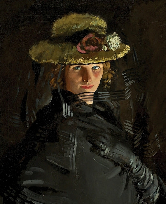William_Orpen_(Irish_Painter,_1878-1931)_Portrait_of_Grace_(The_Artist's_1st_Wife)_Detail_1907 (569x700, 295Kb)