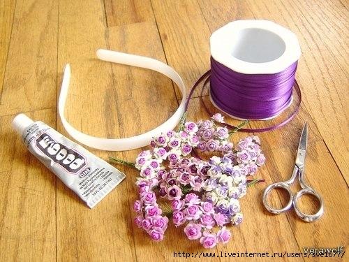 Как сделать цветок на ободок своими руками