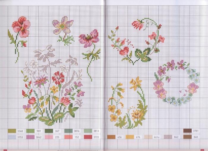 Французские схемы вышивки крестиком