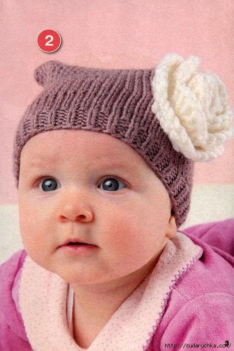 Вязание для малышей-шапки 53