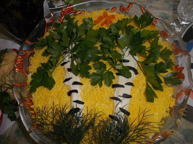 Фото салат берёзка