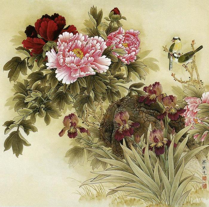 картины художницы Liang Yan Sheng 4 (700x692, 132Kb)