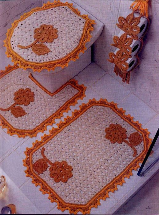 Комплект для ванной (вязание