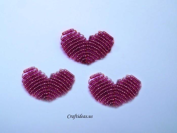 Поделки из бисера сердечко простые - Поделки своими руками.