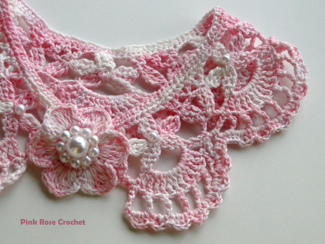 crochet patterns on the collars and necklaces