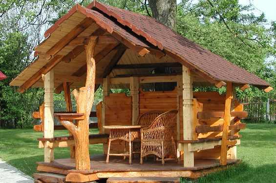В зависимости от того, что Вы хотите сделать, можете выбрать летние, зимние и демисезонные типы деревянных беседок.