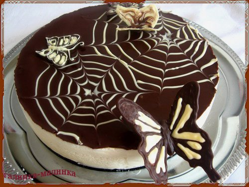 Красивое оформление тортов и рецептом