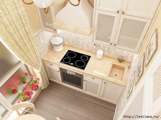 Дизайн на кухне 14 метров