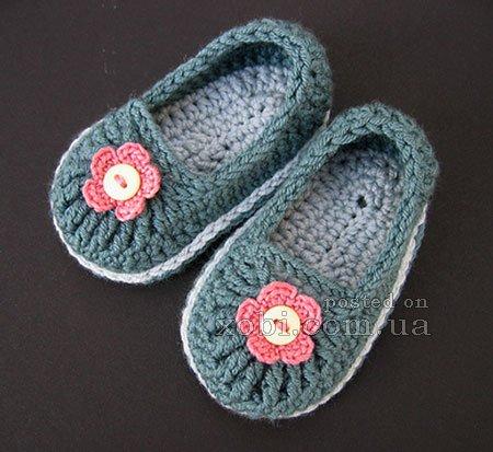 Вязание крючком детских носочек Часть 1 (Crochet