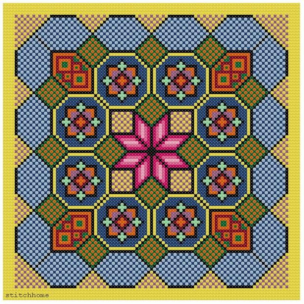 Вышивка крестом геометрический рисунок