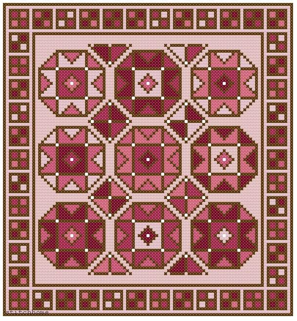 Схемы вышивки на ковер 366