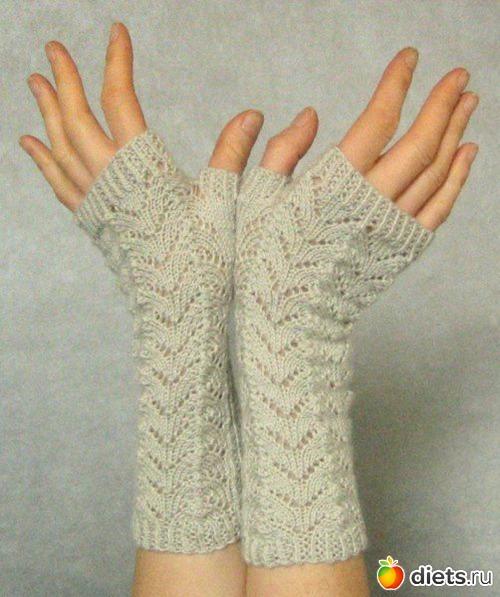 Варежки вязание спицами.