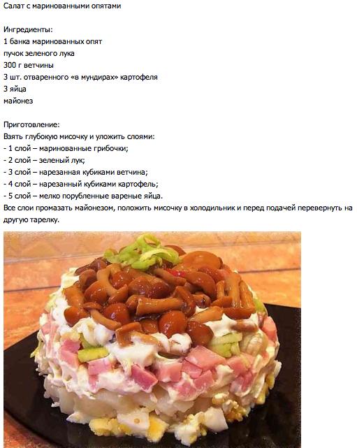 Салат с маринованными опятами (511x641, 306Kb)