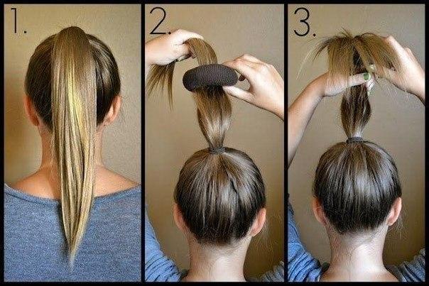 Как сделать пучок на голове девочке - Kazan-avon
