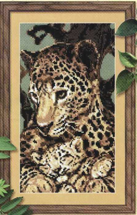 Отзывы Набор для вышивания Леопарды.  Набор Леопарды хорошо подойдет тем, кто уже пробовал вышивать.