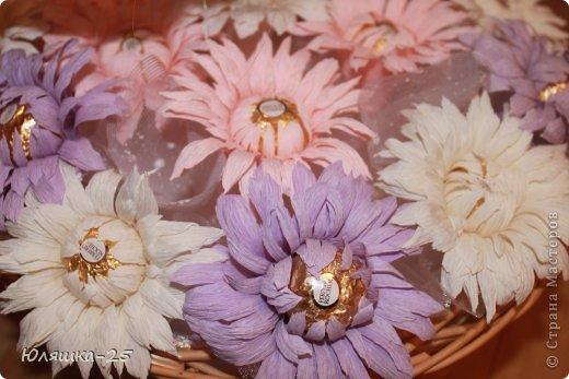 хризантемы из конфет (2)