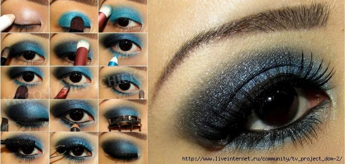 макияж вечерний пошаговое фото