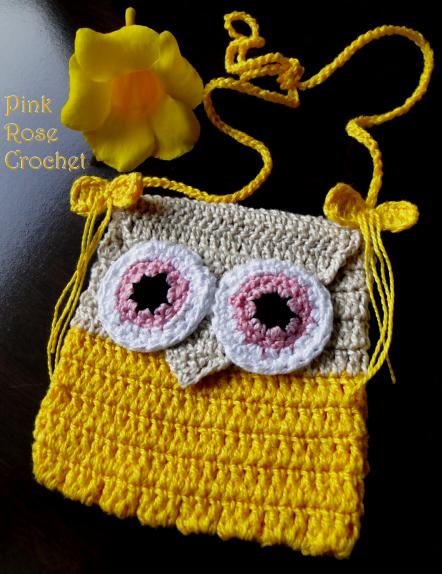 Bolsinha de Crochet Coruja Amarela (442x574, 402Kb)