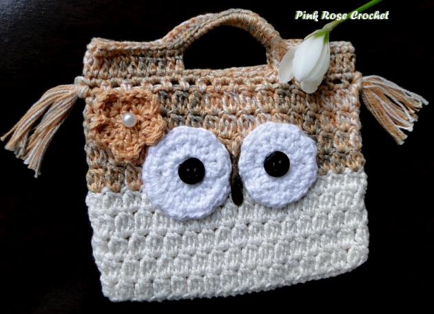 Bolsinha Croche Coruja Crochet Owl Purse (630x455, 436Kb)