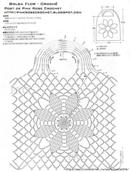 Bolsa Flor Croche Graf. RoseCrochet (532x700, 271Kb)