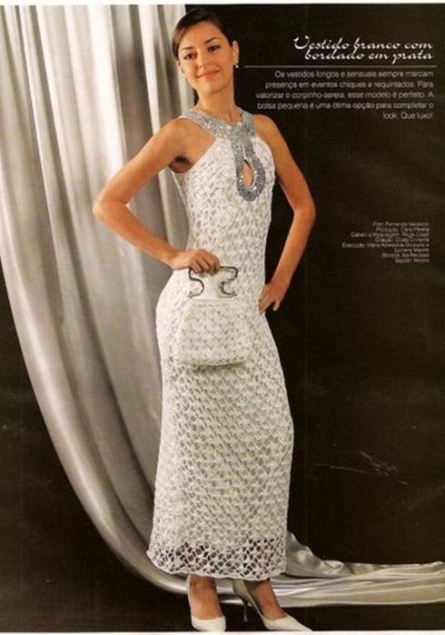 Платья ажурной вязки