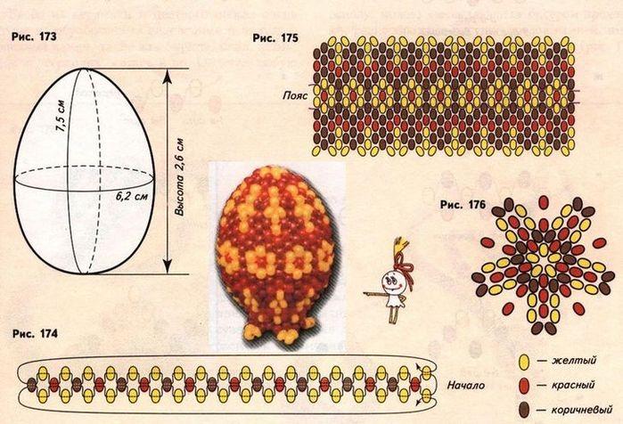 Оплетение яйца бисером поделка