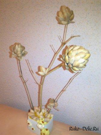 """Фисташковое дерево своими руками на фото """" Рукоделие для дома. Бесплатные схемы вышивки крестом, вязания крючком и спицами"""