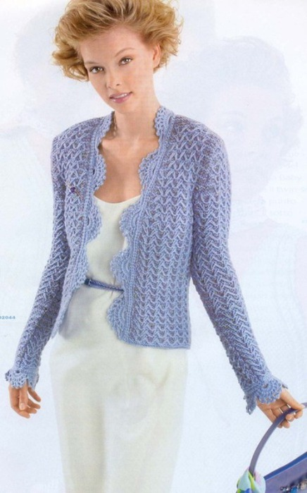 короткие куртки ажурной вязки
