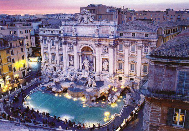 Фонтан Треви, Рим, Италия (604x419, 77Kb)
