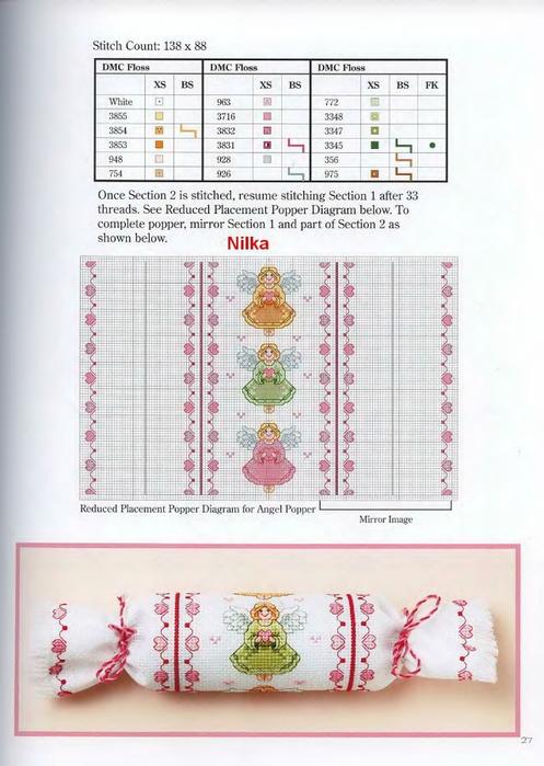 Схемы для вышивки батончика