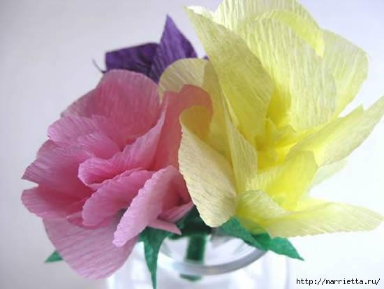 цветы из гофрированной бумаги (3) (550x414, 78Kb)