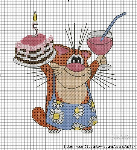 Вышивка картинки с днем рождения