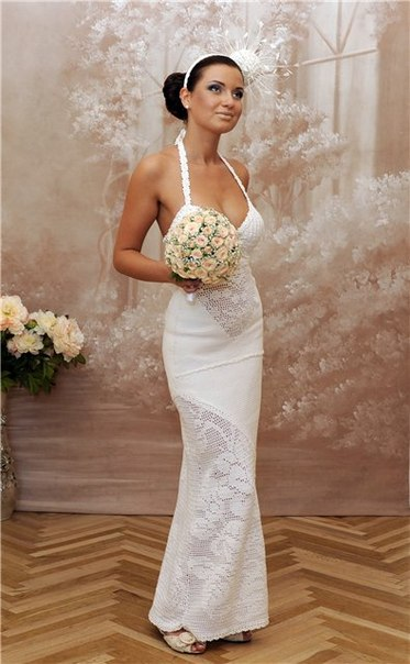 Вязаные свадебные платья своими руками