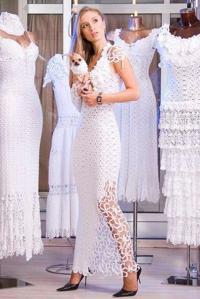 Вязание своими руками платье