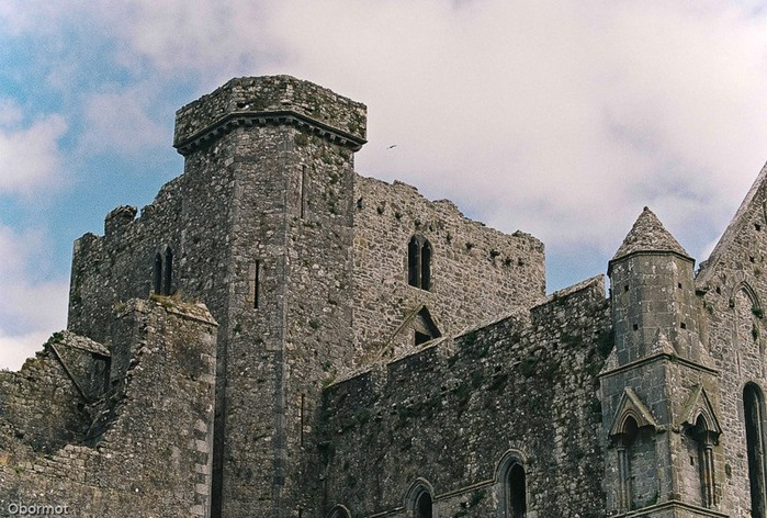 Dublin castle on rock