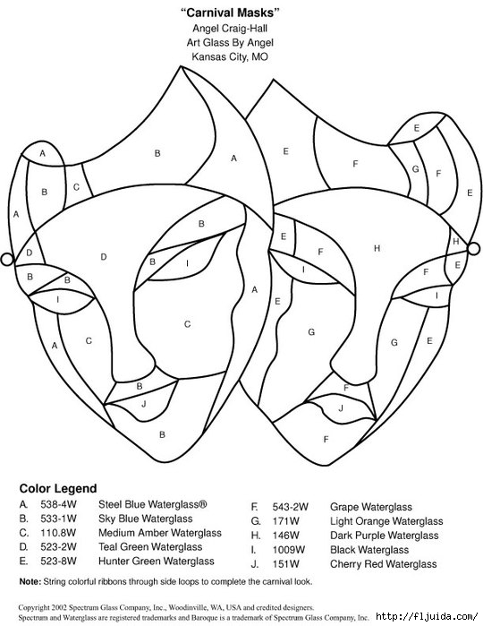 Glass pattern 003 Carnival Masks (540x700, 158Kb)