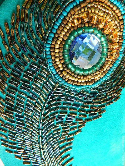 павлине перо из бисера - Самое