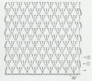 Вязание крючком снуда схема 15