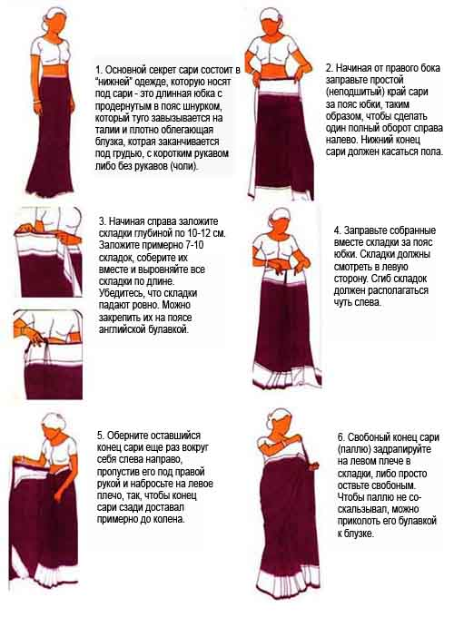 Как сшить сари своими руками