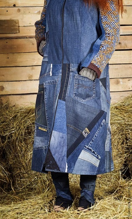 Как сшить пальто из джинсы 355